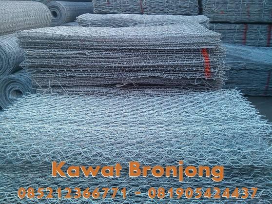 Apa itu Kawat BronjongKawat Bronjongadalah kotak yang terbuat dari anyaman kawat baja berlapis seng yang pada penggunaannya diisi batu-batu